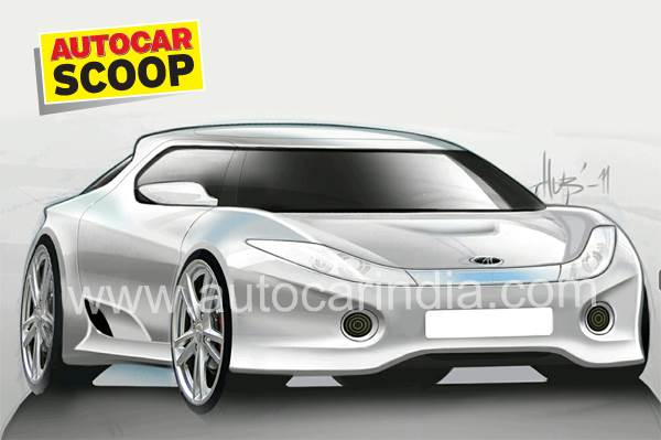 Mahindra Halo sports car first image.