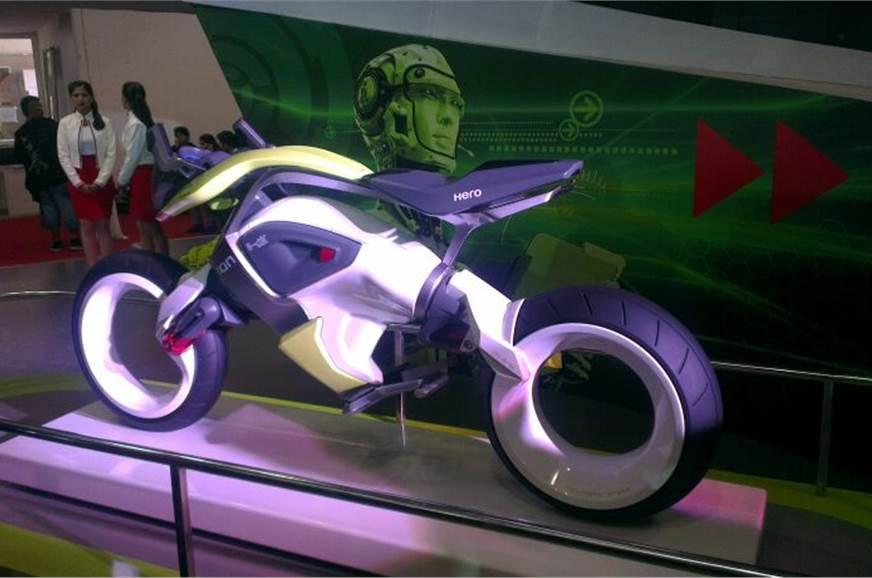 Hero iON motorcycle runs on hydrogen.