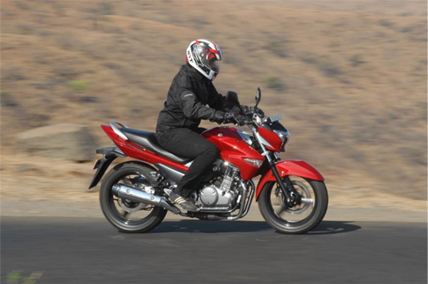 Acceleration is quick enough for a 250 twin, though don't...