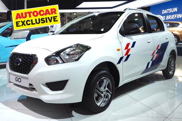 Datsun showcased the Go with optional accessories at the Auto Expo 2014.