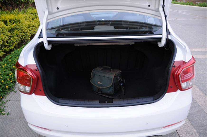 At 407 litres, the boot is the largest in its class.