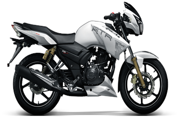 Existing TVS model seen here, but first bike developed with BMW tech to be a 300cc TVS streetbike.