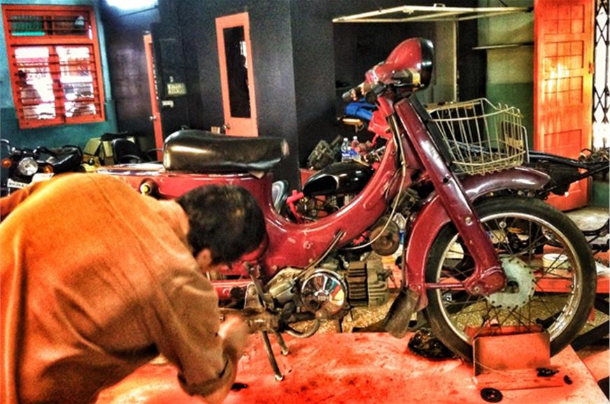 Not your regular motorcycle garage.