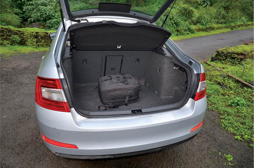 Humongous 590-litre boot can swallow your weekend luggage.
