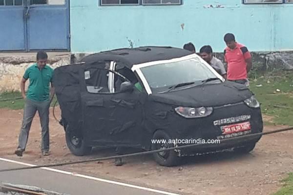 Mahindra compact SUV spy pic sent by Santosh Bhojan.