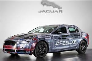 Jaguar XE sedan prototype shown
