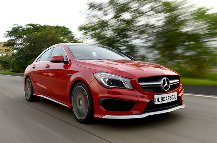 Mercedes benz cla 45 amg india review test drive for Mercedes benz cla review
