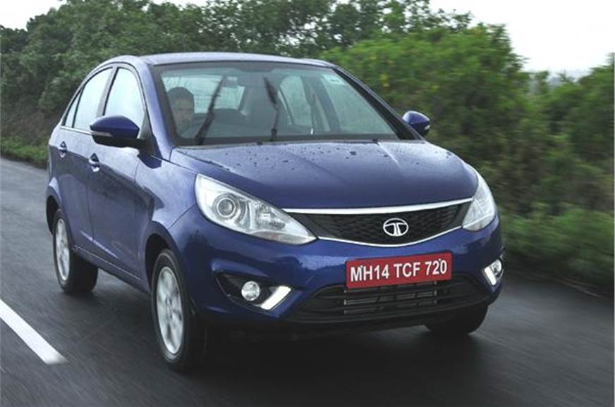 The Tata Zest is the company's new compact sedan, which w...