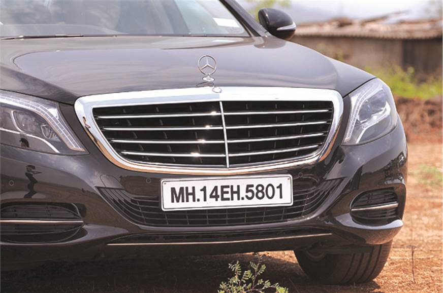 Chrome grille now bigger than ever; spells out the S's lu...