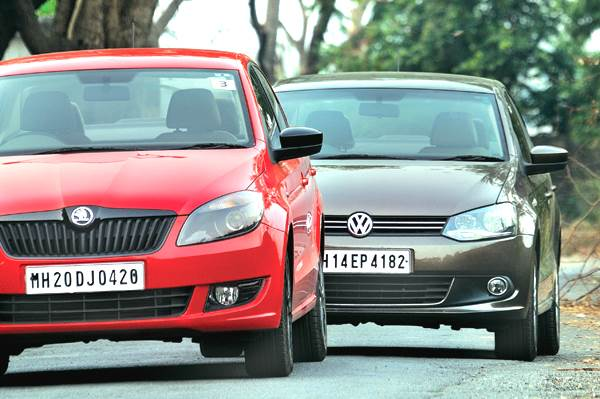 Volkswagen Vento diesel auto vs Skoda Rapid Diesel auto comparison