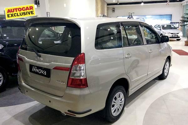 Toyota Innova GX variant shown with optional equipment