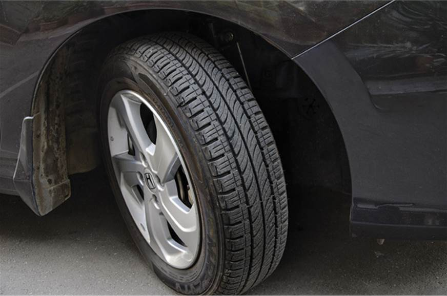 For the pace this car has, the narrow 175/65R15 rubber fe...