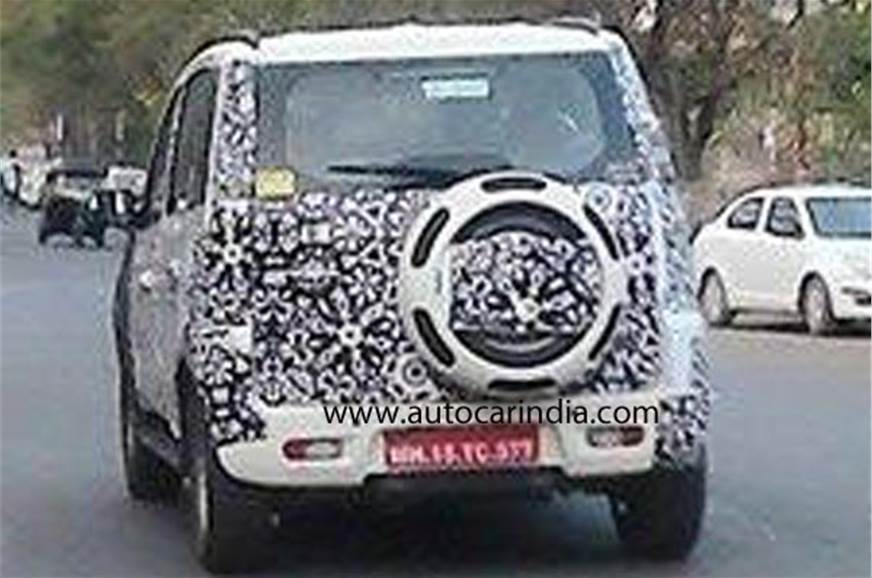 2015 Mahindra Quanto facelift spy pic.