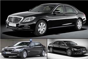Mercedes S 600 Guard, BMW 7 series High Security, Audi A8L Security: Spec comparo