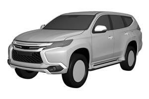 Next-gen Mitsubishi Pajero Sport patent renderings leaked