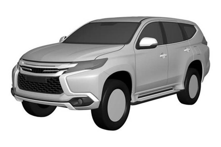 Mitsubishi Pajero Sport leaked patent image.