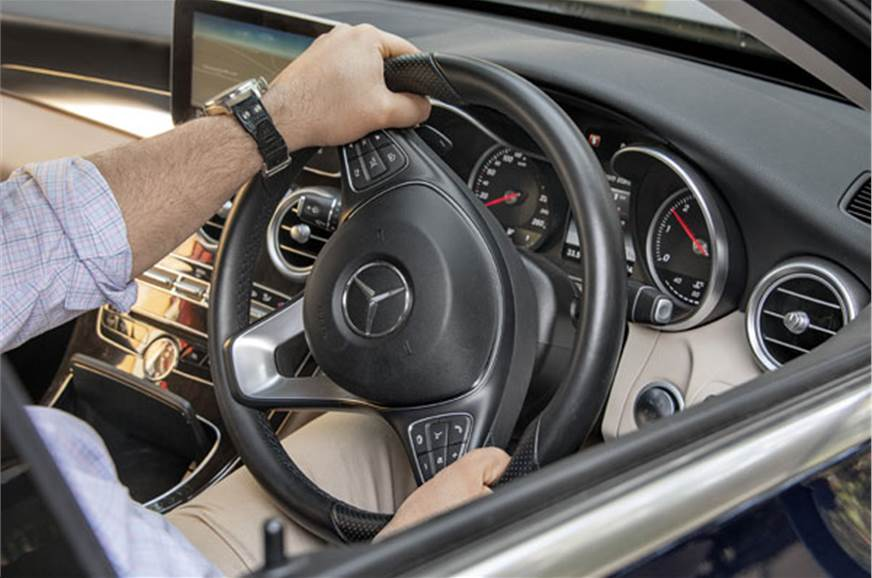 Well-weighted steering is responsive, has loads of feel.