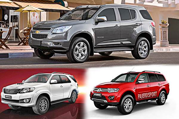 Chevrolet Trailblazer Vs Fortuner Vs Pajero Sport Specifications Comparison Autocar India