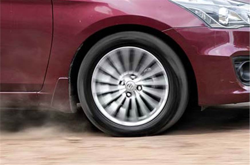 Absorbent suspension and big tyres help it ride superbly.