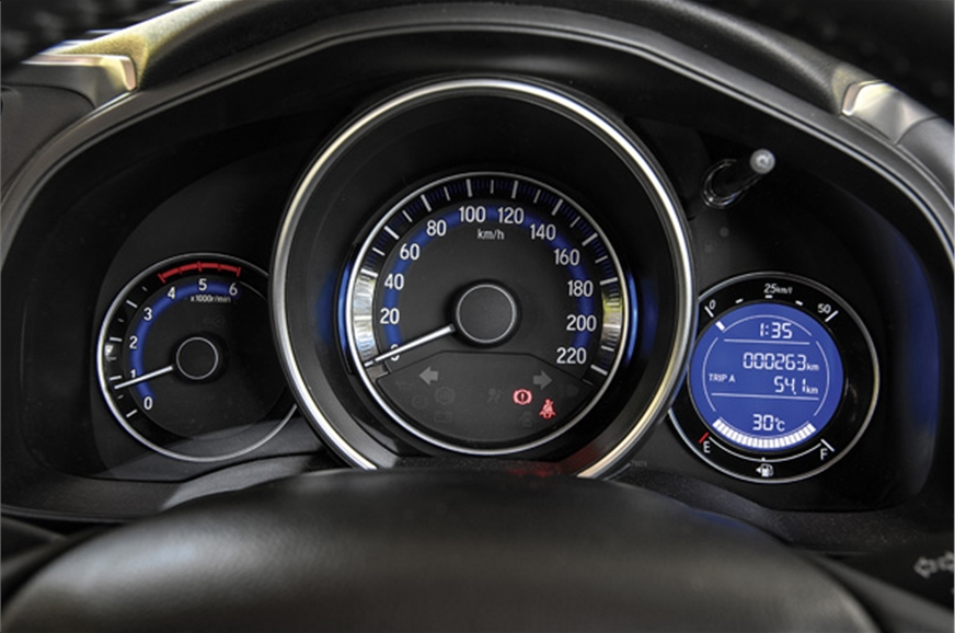 Large, blue back-lit dials look fantastic. Digital screen...
