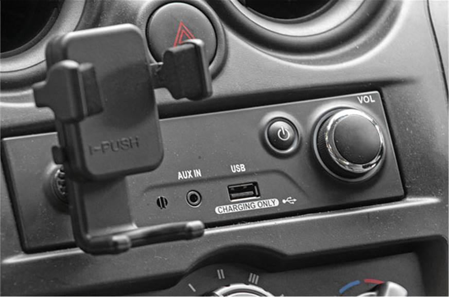Hardly any options other than aux-in; USB port only for c...