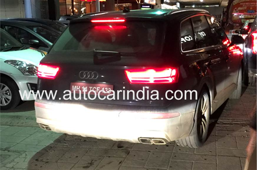The SQ7 test-mule seen in Mumbai had quad exhausts.