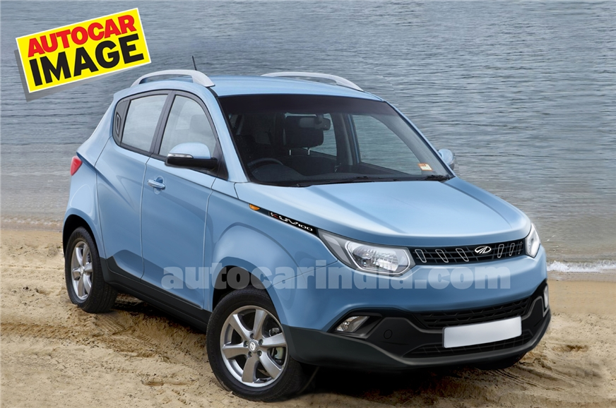 Mahindra KUV100 computer-generated rendering. (Used for r...