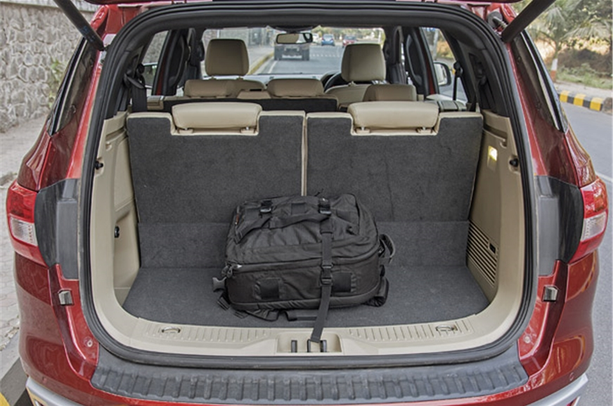 Adequate boot space even with third-row up. Powered third...