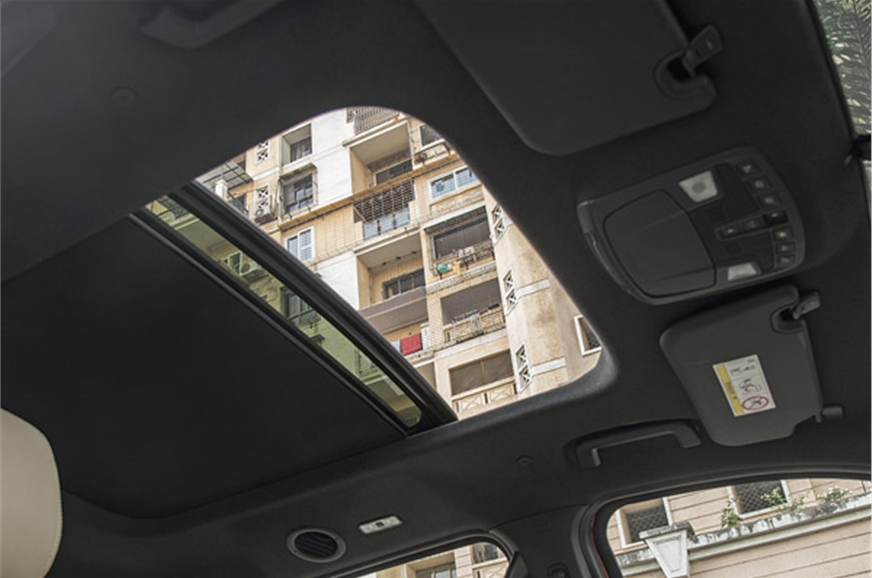 Panoramic sunroof is a first-in-class feature. It's offer...