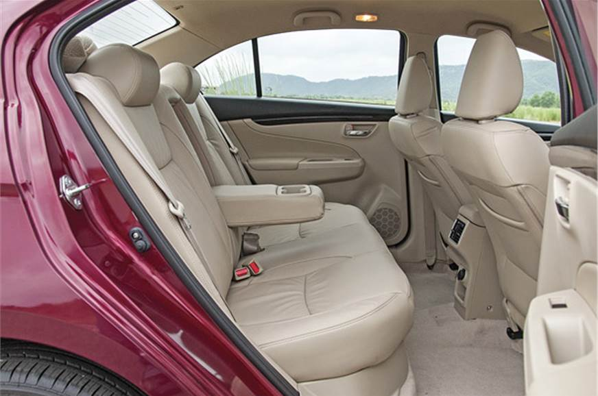 Rear Seat Easy to get in and out of, along with offering ...