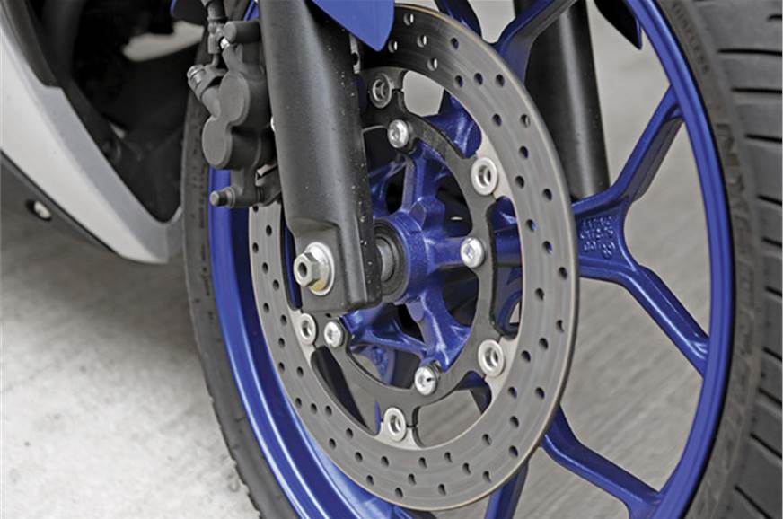 Bite from the brakes is strong, and they offer fade-free ...