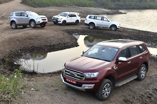 New Ford Endeavour vs Trailblazer vs Pajero Sport vs Fortuner comparison