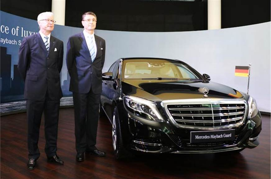 Roland Folger (Left), MD and CEO, Mercedes Benz India and...