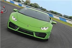 Lamborghini Huracán LP580-2 track drive