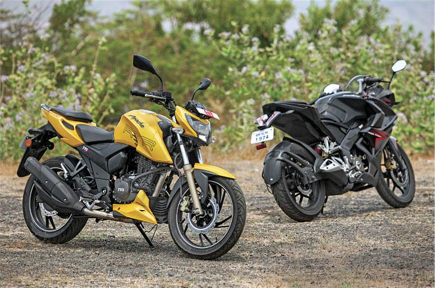 Apache RTR, the more handsomely styled 200 of this duo, w...