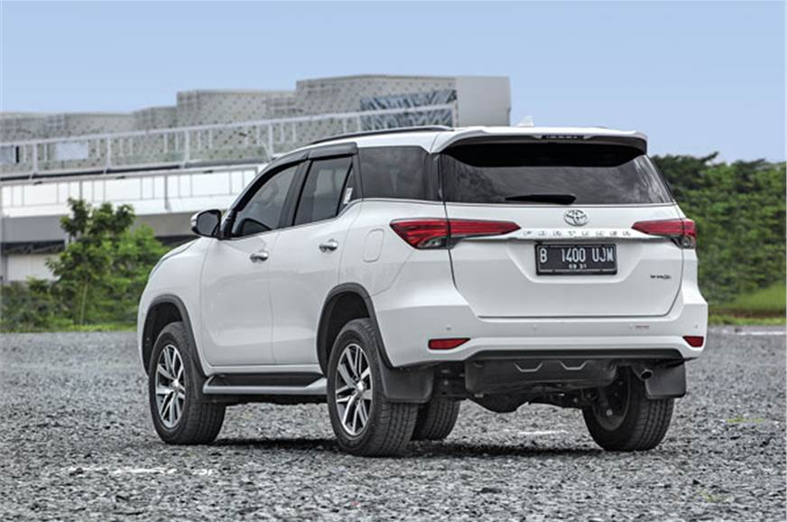 The Fortuner looks best when viewed from the rear three-q...