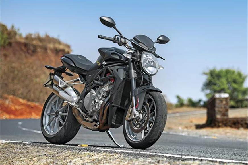 The matte-black paint job really hides this bike's more a...