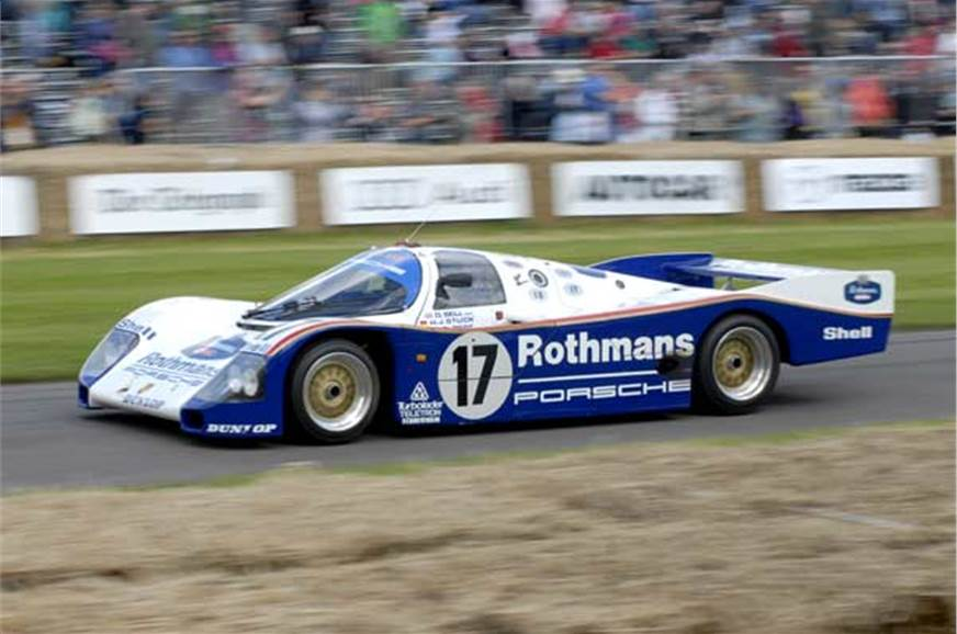 Goodwood is big on Le Mans. This 962C is one of Porsche's...