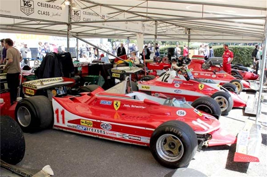 The cars you'll see... Those are Jody Scheckter, Gilles V...