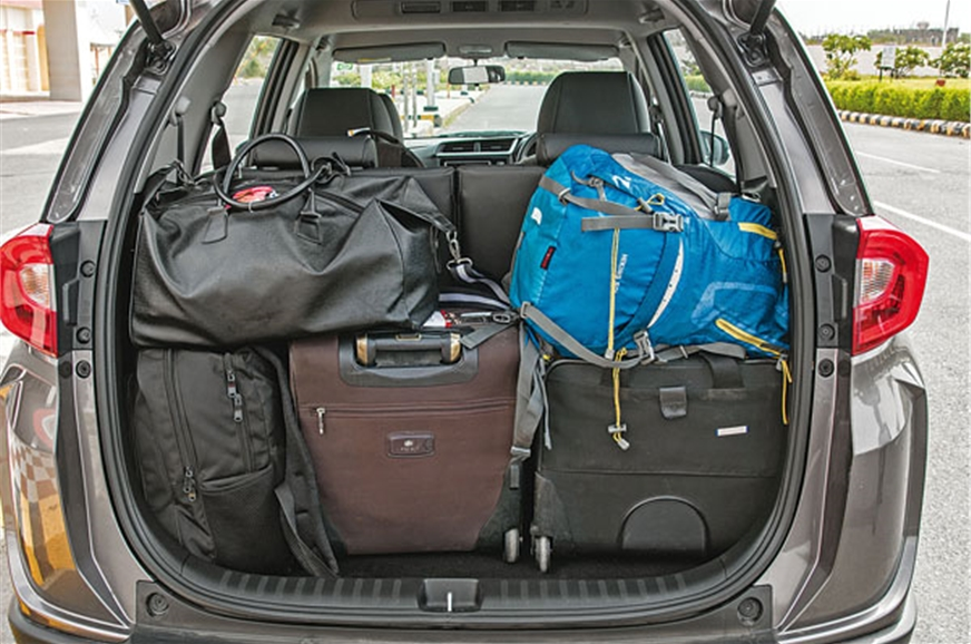 All our bags fit comfortably in the BR-V's boot.