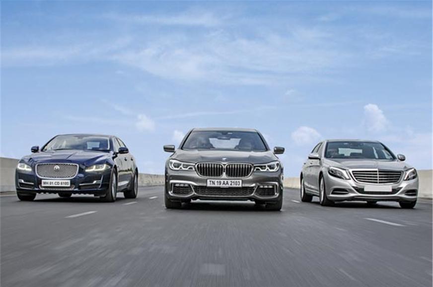 Bmw 7 series vs jaguar xj vs mercedes benz s class for Mercedes benz s class vs bmw 7 series