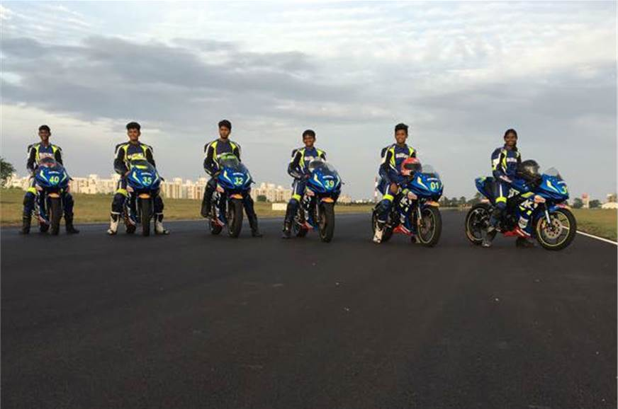 Road To Rookies racers(Left to right) AS Alexander(16), K...