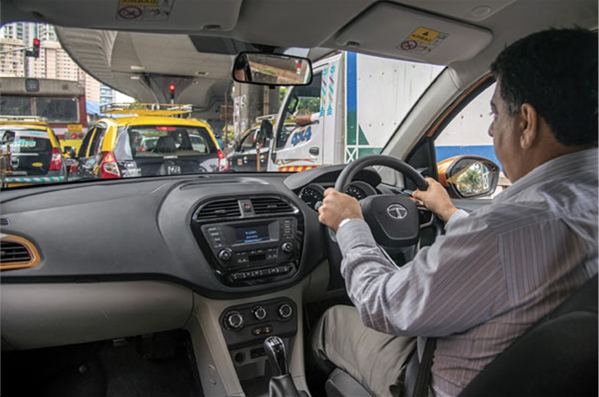 Light controls make the Tiago easy to drive in heavy traf...