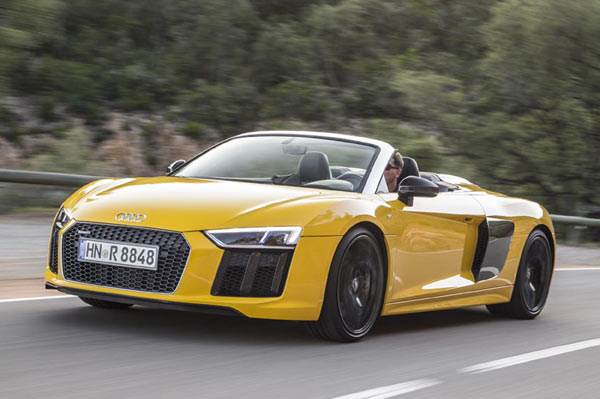 2016 Audi R8 V10 Spyder review, test drive