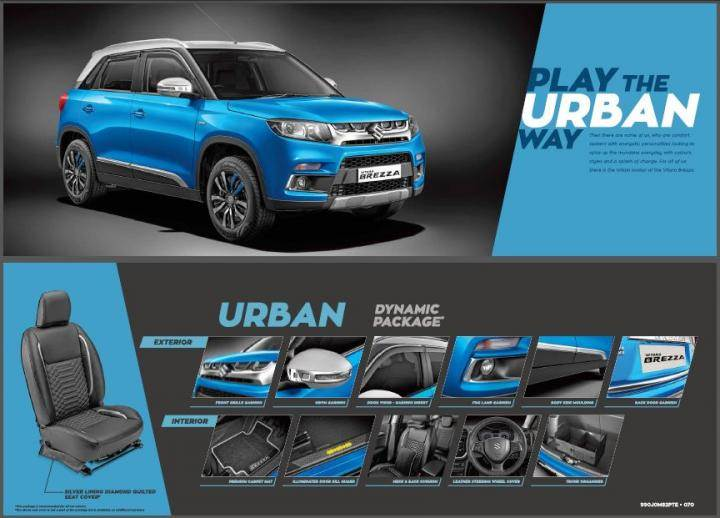 Maruti Vitara Brezza Gets Icreate Customisation Kits