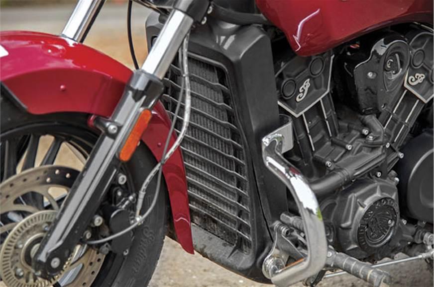 Liquid cooling helps engine rev higher.