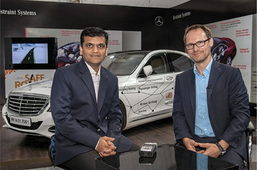 Parthiv Shah and Matthias Struck discuss road safety.