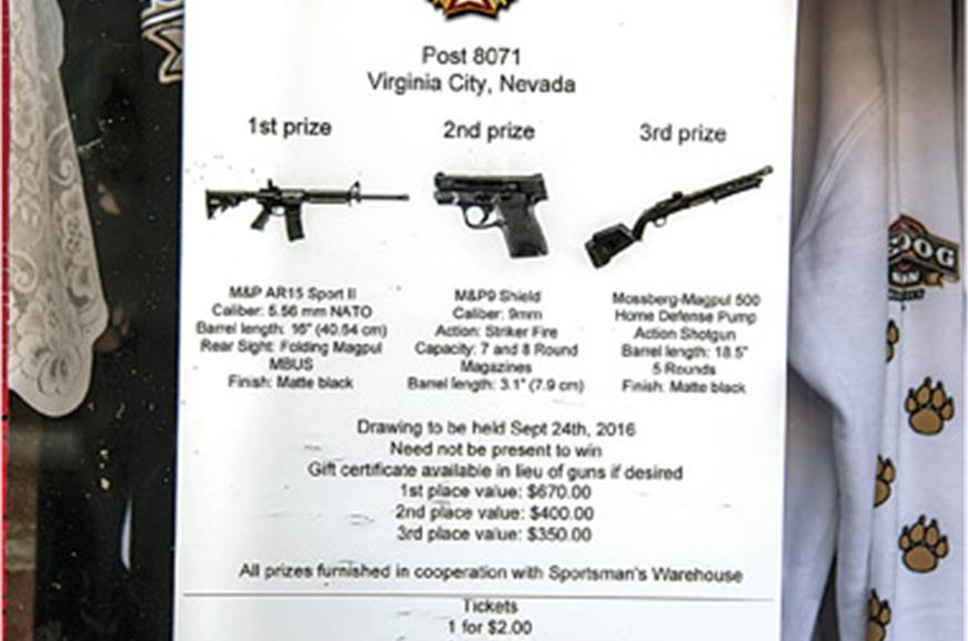 Being a pro-gun state, raffles like these are common.