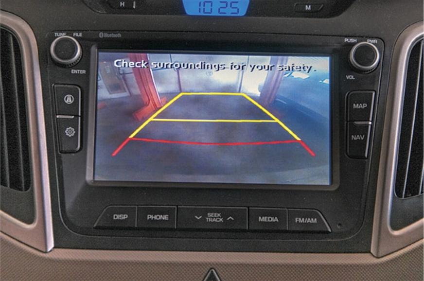 Reverse camera view could do with a better video resolution.