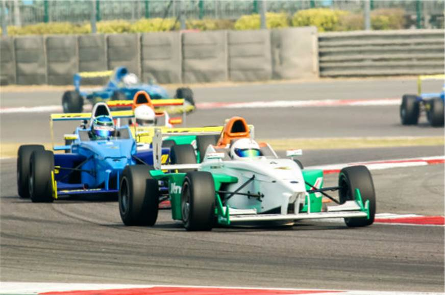 Akhil Rabindra (no. 4) leads the EuroJK race 4 after bad ...